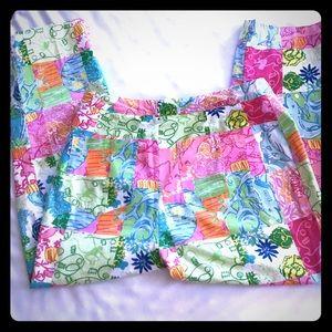 Fun😉😉LILLY PULITZER print cotton pants! EUC